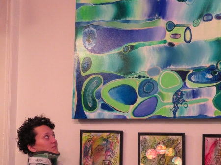 good me looking up at painting!_